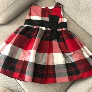 Gymboree Dresses - Gymboree 18-24 Plaid Party Dress Red Black